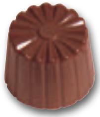 """Chokoladeform """"cannele"""" rund smal (6607)"""