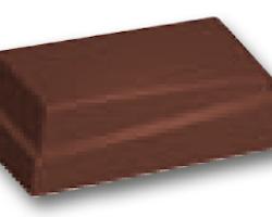 """Chokoladeform """"skæv"""" 2 lag (16351)"""