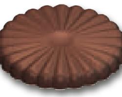 Chokoladeform Blomst (136 B)