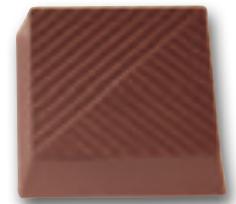 Chokoladeform Kvadrat med mønster (11284)