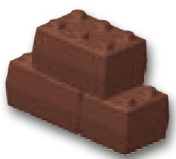 Chokoladeform Legoklods (16257)