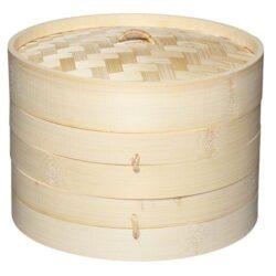 Asiatisk Dampkoger Steamer Bambus 25 cm