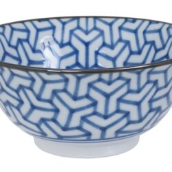 Håndlavet Japansk Skål Blå 15 cm Mønster