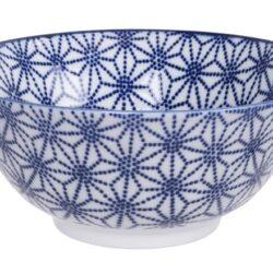Håndlavet Japansk Skål Blå 15 cm Stjerner