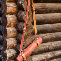 Håndlavet Læder Knivtaske 5 Knive Brun