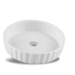 Mini Tærtefad Riflet Porcelæn Hvid 11 cm